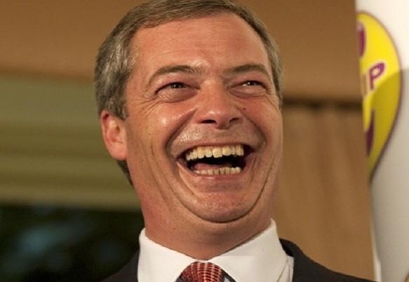 Glee of Nigel Farage
