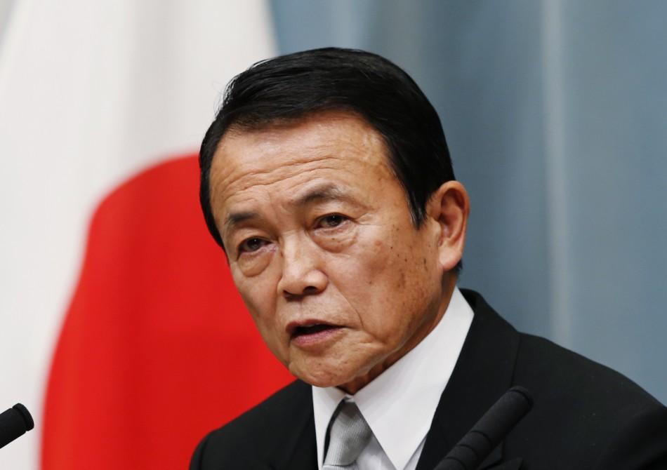Japan's deputy prime minister Taro Aso