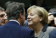 Friend indeed: Cameron and Merkel get closer on Europe