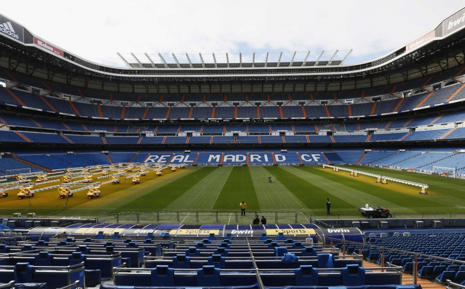 Real Madrid's Santiago Bernabeu stadium