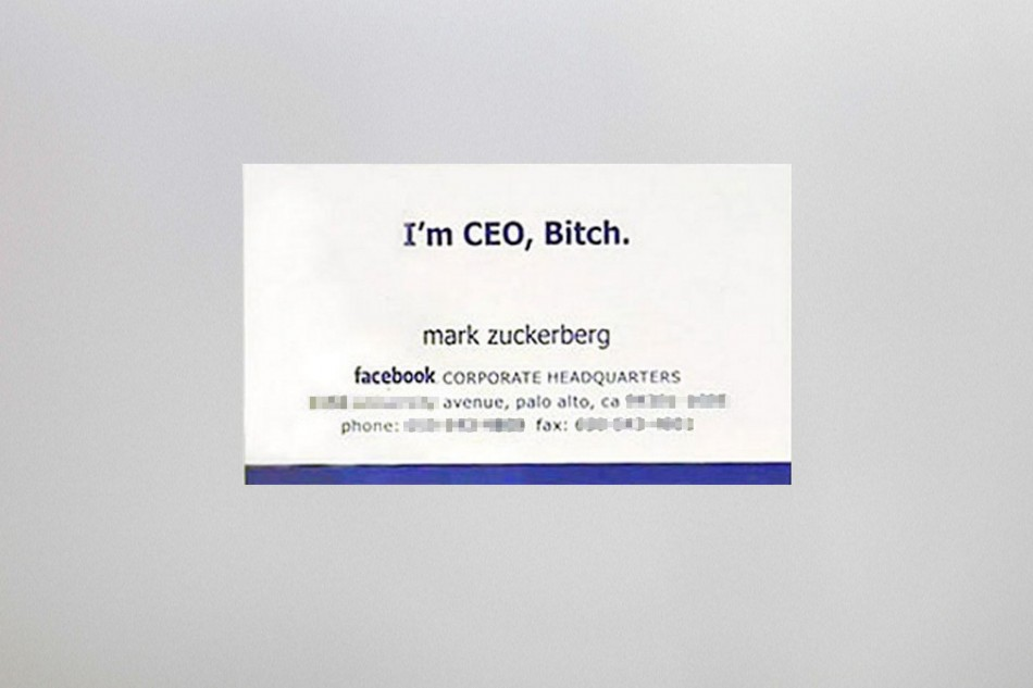 Business cards of the Rich and Famous