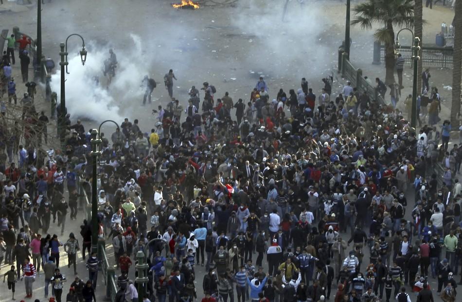 Protesters opposing Egyptian President Mohamed Mursi