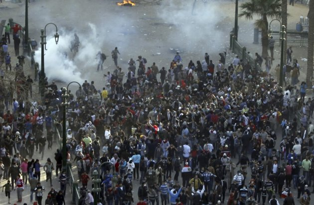 Protesters opposing Egyptian President Mohamed Mursi