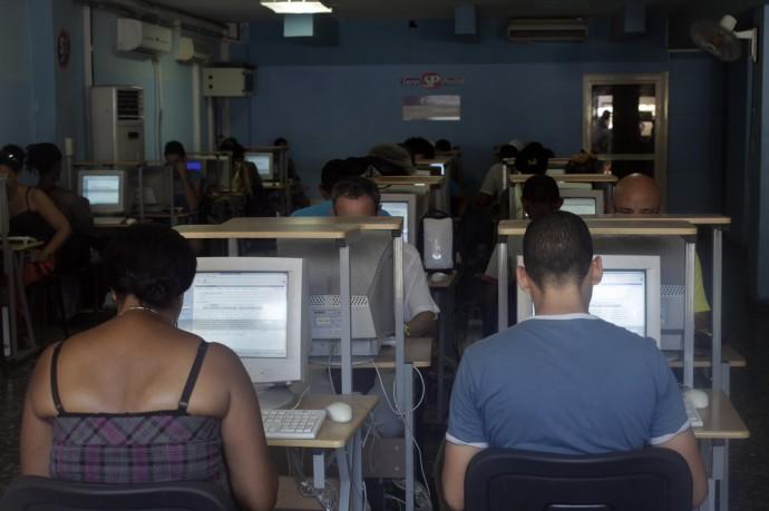 Cybercafe in Havana, Cuba
