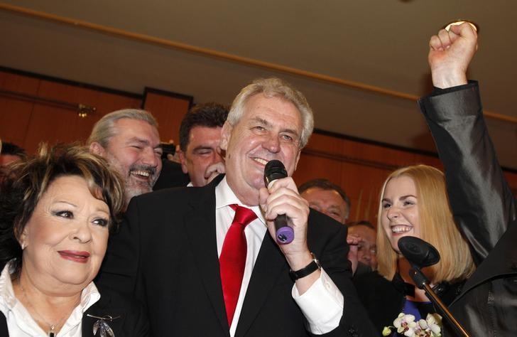 New Czech president Milos Zeman (Reuters)