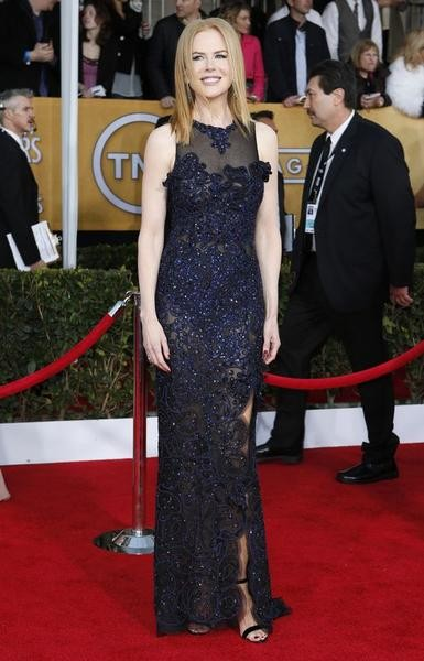 Actress Nicole Kidman arrives at the 19th annual Screen Actors Guild Awards in Los Angeles, California