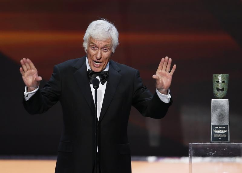 Actor Dick Van Dyke accepts the life achievement award at the 19th annual Screen Actors Guild Awards in Los Angeles, California