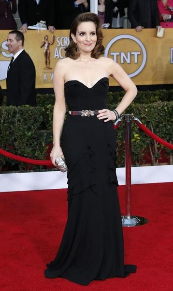 Actress Tina Fey of the TV comedy 30 Rock arrives at the 19th annual Screen Actors Guild Awards in Los Angeles, California