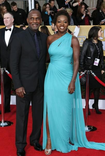Actress Viola Davis and her husband Julius Tennon arrive at the 19th annual Screen Actors Guild Awards in Los Angeles, California
