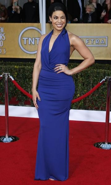 Actress and singer Jordin Sparks winks as she arrives at the 19th annual Screen Actors Guild Awards in Los Angeles, California