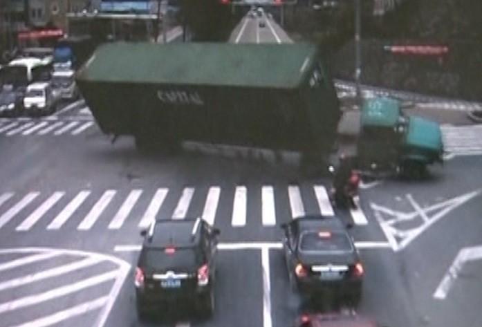 Overturning Lorry