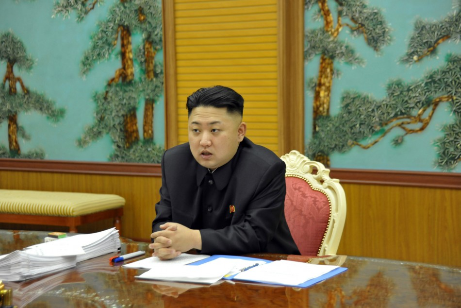 North Korean leader Kim Jong-Un presides over a consultative meeting with officials about state security amid reports his country is suffering a famine (Reuters)