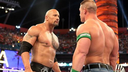 The Rock John Cena