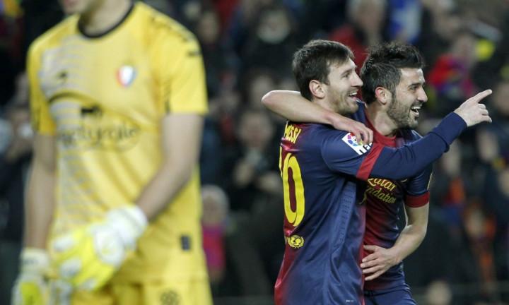Lionel Messi - David Villa