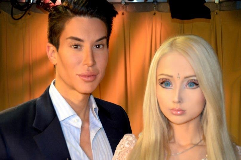 Living barbie doll valeria lukyanova gets into word war with male counterpart over plastic - Image barbie et ken ...