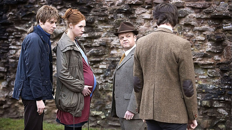 Rory, Amy and the Doctor with the Dream Lord (from Amy's Choice)