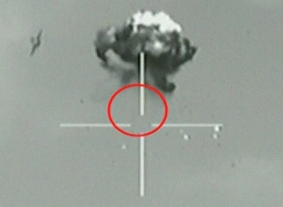 A still image taken from Israeli Defence Forces