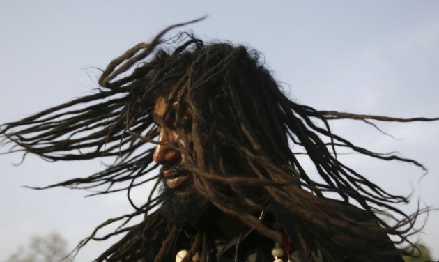 Man with dreadlocks