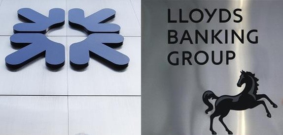 RBS and Lloyds are 83% and 42% owned by the taxpayer respectively. (Photos: Reuters)