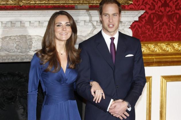 Kate Middleton wearing Issa wrap dress