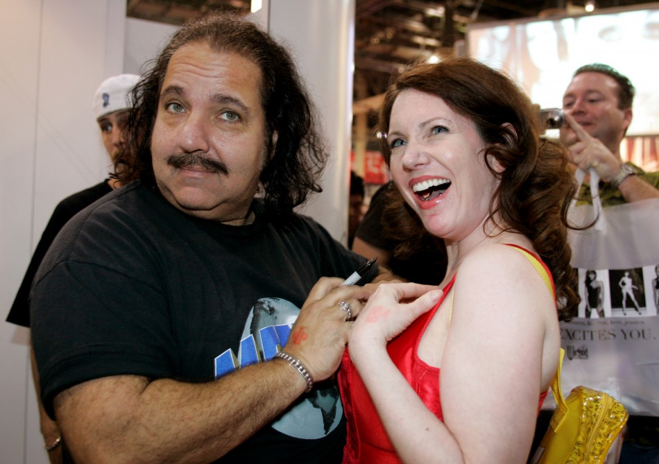 Ron Jeremy (l) and fan