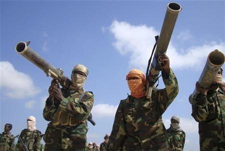 Members of the hardline al Shabaab Islamist rebel group