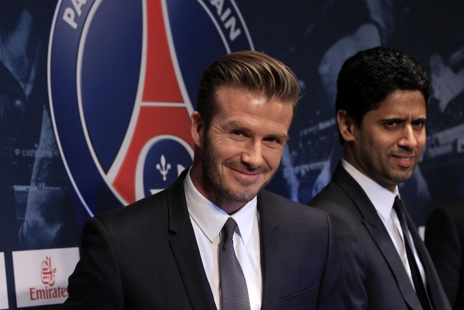 Beckham after signing for new club Paris Saint Germain