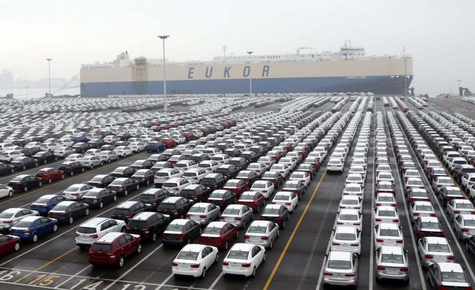 south korean exports climb