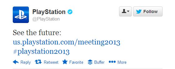 PlayStation Tweet