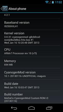 Galaxy Nexus I9250