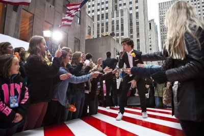 Harry Styles of the band One Direction performs on NBCs Today show in New York November 13, 2012