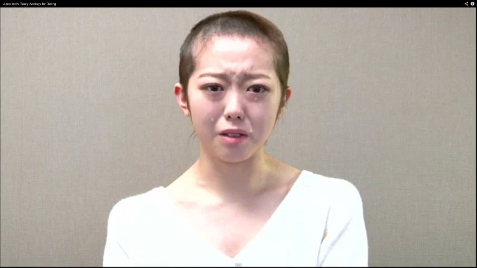Minami Minegishi delivers a tearful apology
