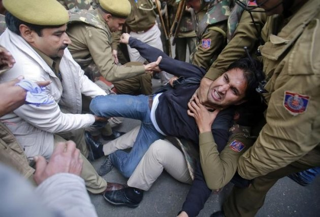 The five men charged with the gang rape of a female student have pleaded not guilty. The attack provoked protests and rare national debate about violence against women in India