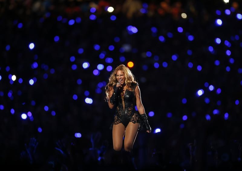 Beyonce performs during the half-time show of the NFL Super Bowl XLVII football game in New Orleans, Louisiana,