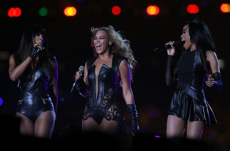 Beyonce C and Destinys Child perform during the half-time show of the NFL Super Bowl XLVII football game in New Orleans, Louisiana