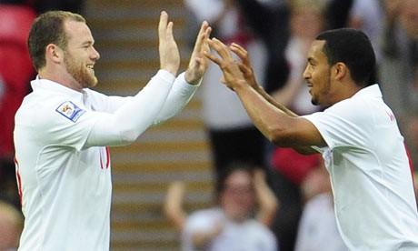 Wayne Rooney and Theo Walcott