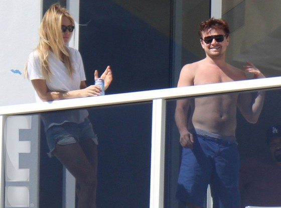 Leonardo DiCaprio with rumored girlfriend Margot Robbie.