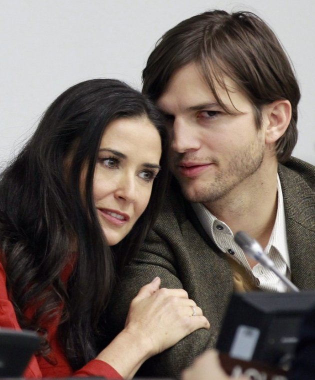 Demi Moore With Ex-Husband Ashton Kutcher
