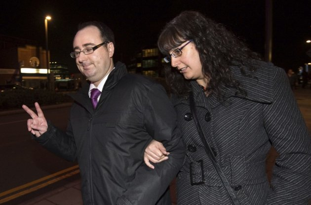 Ashley Gill Webb (l) outside court