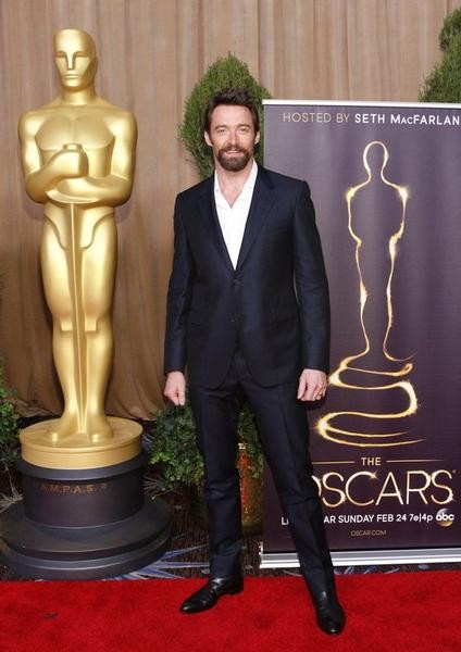 Hugh Jackman, nominated for best actor for his role in Les Miserables, arrives at the 85th Academy Awards nominees luncheon in Beverly Hills, California