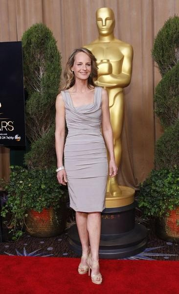 Helen Hunt, nominated for best supporting actress for her role in The Sessions, poses  at the 85th Academy Awards nominees luncheon in Beverly Hills, California