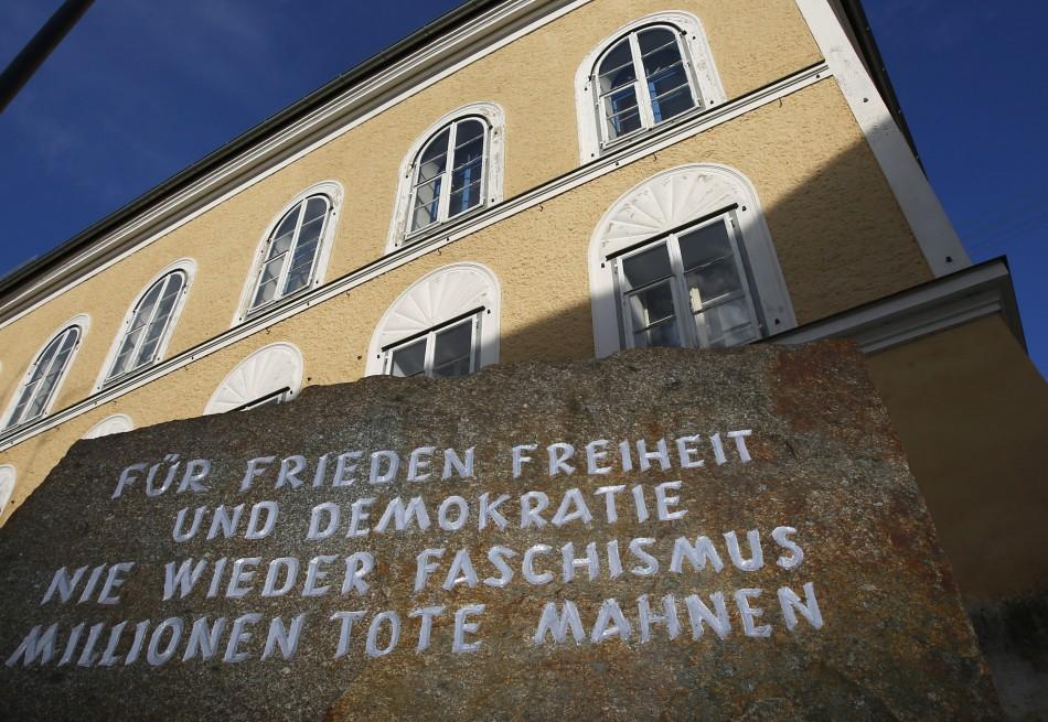 Adolf Hitler's Gasthaus zum Pommer building in Braunau