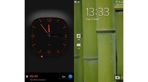 BlackBerry 10 lock screens