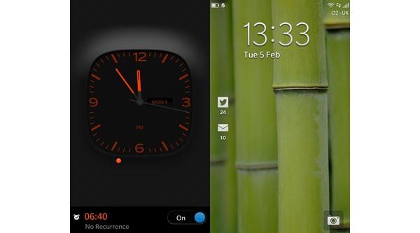 BlackBerry 10 lock screens
