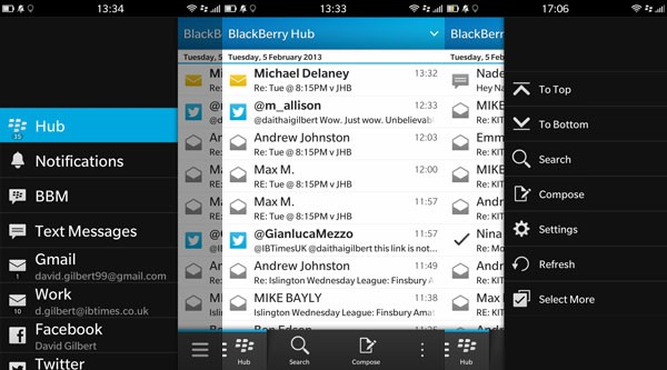 BlackBerry 10 Hub