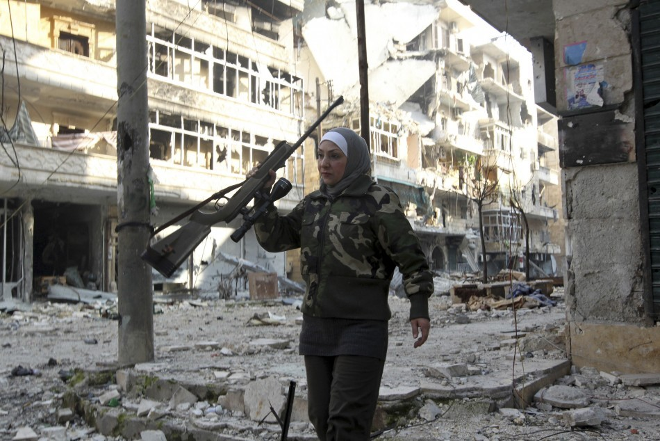 Syria Civil War Aleppo S Only Woman Sniper Guevara