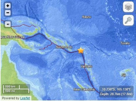Tsunami Measuring 0.9 Meters Hits Solomon Islands After 8.0 Magnitude Quake