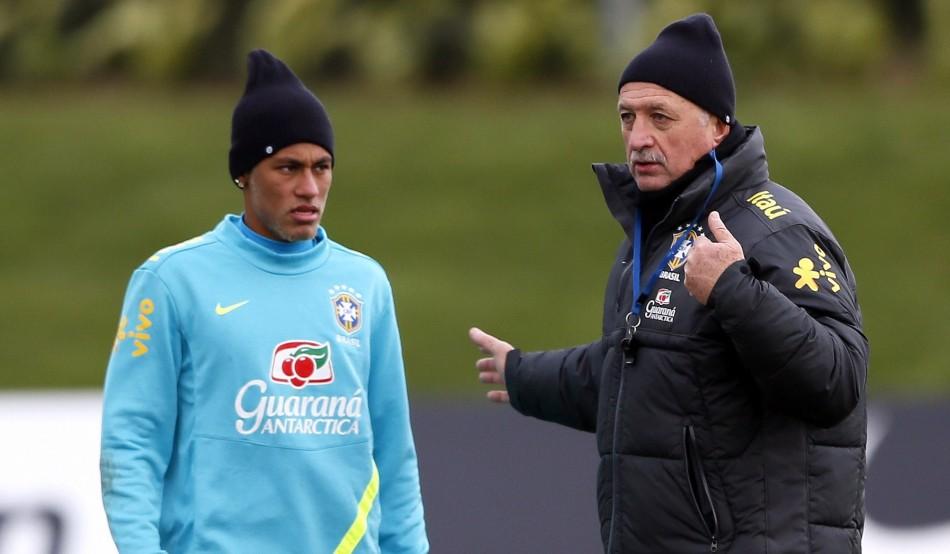 Neymar and Scolari