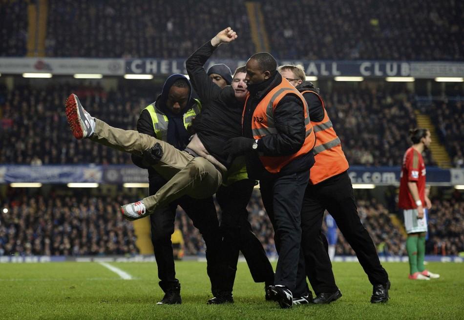Pitch invasion at Stamford Bridge