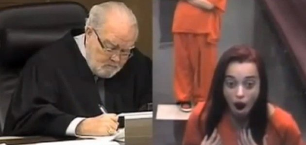 Penelope Soto was appearing at the court on drug possess charges (YouTube/NewsRoss)